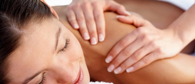 Client enjoying a wonderful massage.